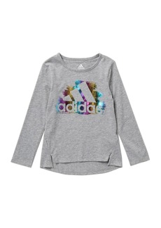 Adidas Front Vented Long Sleeve Tee (Toddler & Little Girls)