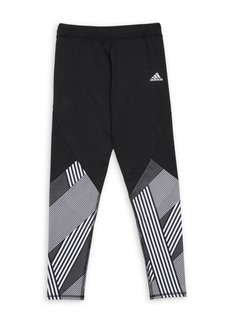 Adidas Girl's Climalite Alpha Pieced Full-Length Tights