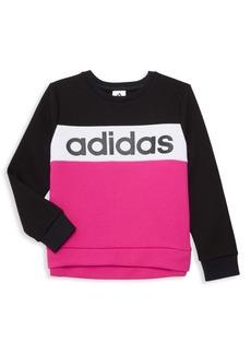 Adidas Girl's Colorblock Logo Sweatshirt