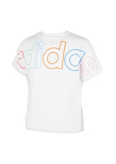 Adidas Girl's Exploded Outline French Terry Tee