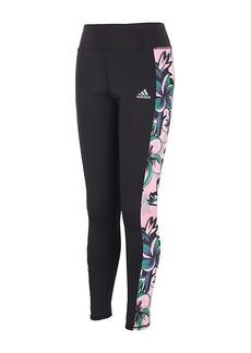 Adidas Girl's Floral Side-Panel Leggings