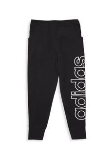 Adidas Girl's Linear Jersey Jogger Pants