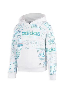 Adidas Girl's Logo All-Over Fleece Hoodie