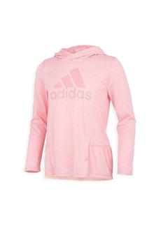 Adidas Girl's Melange Logo Hoodie
