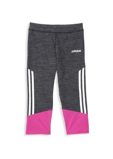 Adidas Girl's Stripe Cropped Tights