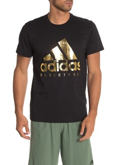 Adidas Gold Foil Logo T-Shirt