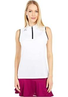 Adidas Gradient Zip Sleeveless Polo Shirt