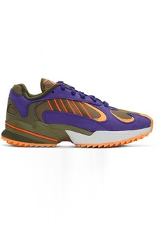 Adidas Green & Purple Yung-1 Trail Sneakers