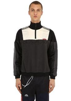 Adidas Half Zip Nylon & Fleece Sweatshirt