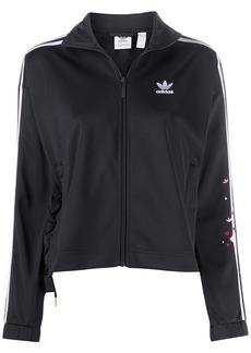 Adidas hearts embroidered zipped jacket