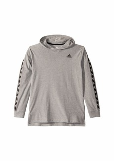 Adidas Heather Hooded Badge of Sport Tee (Big Kids)