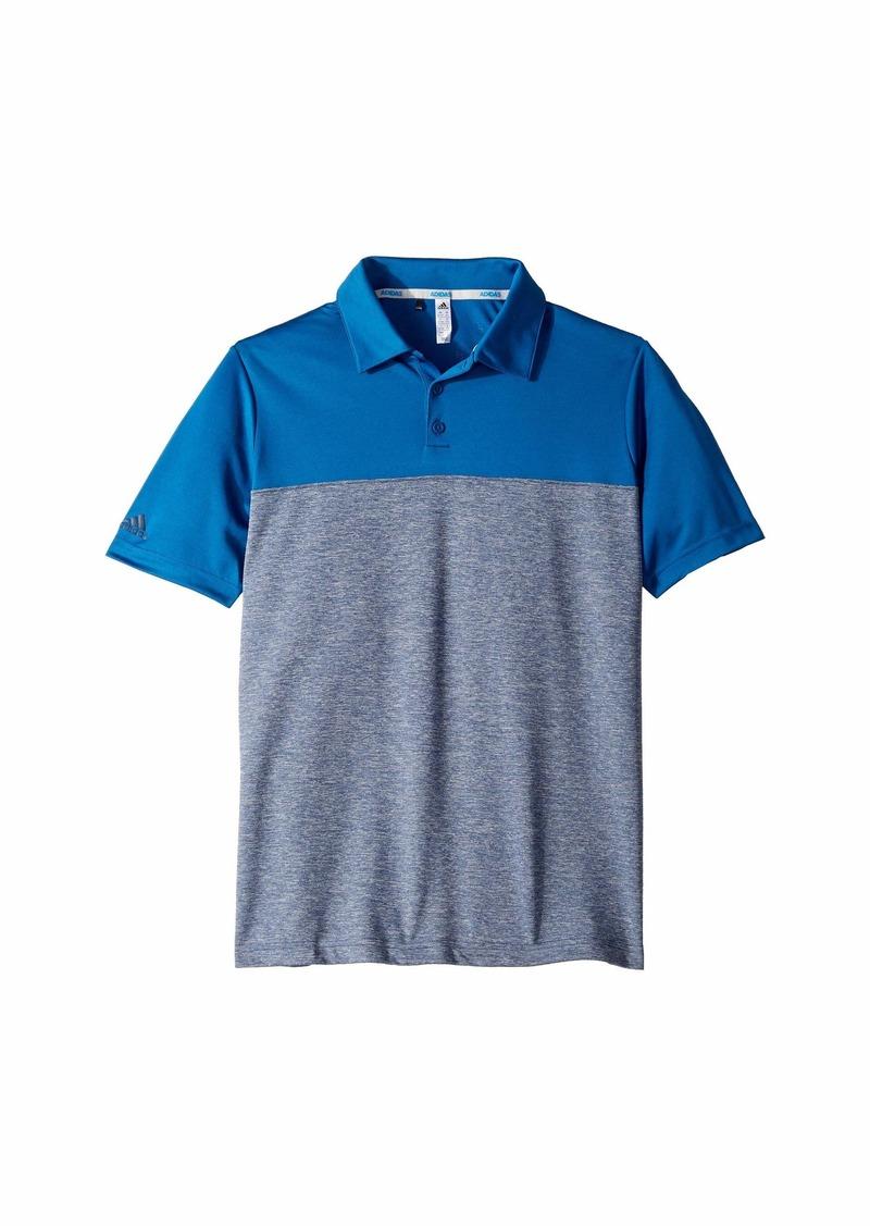 Adidas Heathered Color Blocked Polo (Little Kids/Big Kids)