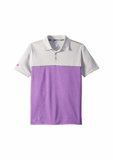 Adidas Heathered Color Blocked Polo (Little Kids/Big Kids)