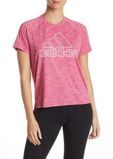 Adidas Heathered High/Low Short Sleeve T-Shirt