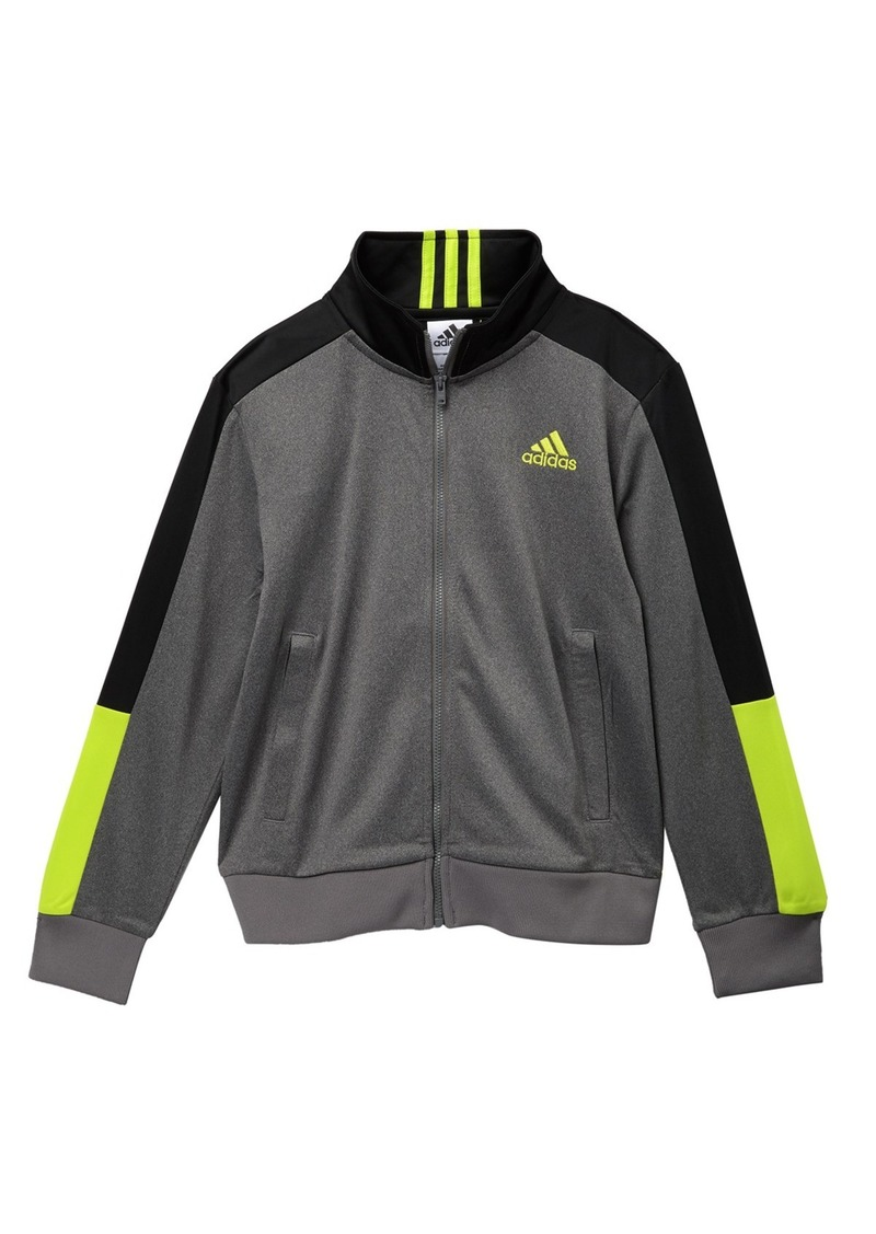 Adidas Heathered Tricot Jacket (Big Boys)