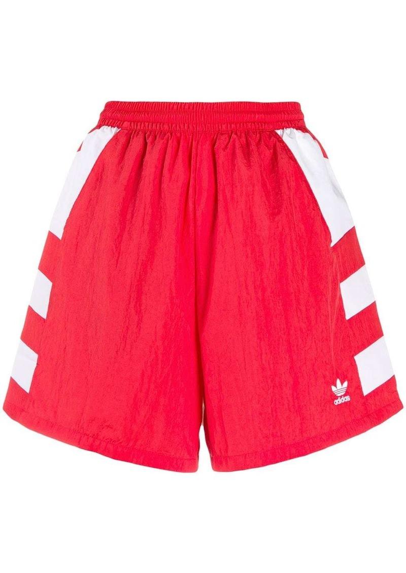 Adidas high-waisted trefoil shorts