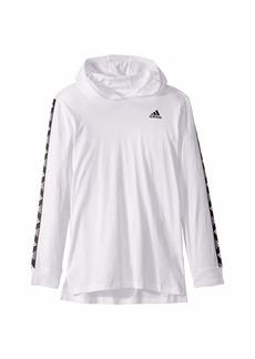 Adidas Hooded Badge of Sport Long Sleeve Tee (Big Kids)
