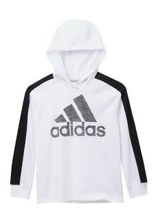 Adidas Hooded Pieced Long Sleeve Tee (Big Boys)