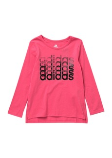 Adidas Linear Thank You T-Shirt (Toddler & Little Girls)