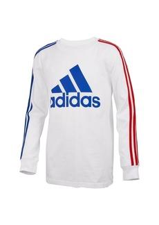 Adidas Toddler Boys Long Sleeve Badge of Sport Stripe Tee