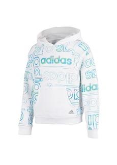Adidas Little Girls Long Sleeve Print Fleece Hooded Pullover