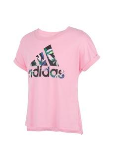 Adidas Little Girls Short Sleeves Waist Dolman T-shirt
