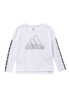 Adidas Logo Cropped T-Shirt (Toddler, Little Girls, & Big Girls)