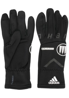 Adidas x Neighborhood logo detail gloves