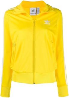 Adidas logo embroidered zipped jacket