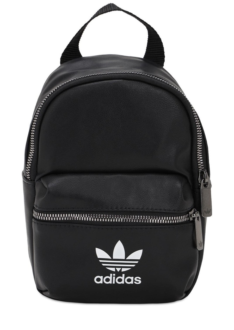Adidas Logo Faux Leather Backpack