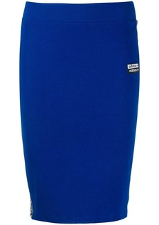 Adidas logo fitted mini skirt