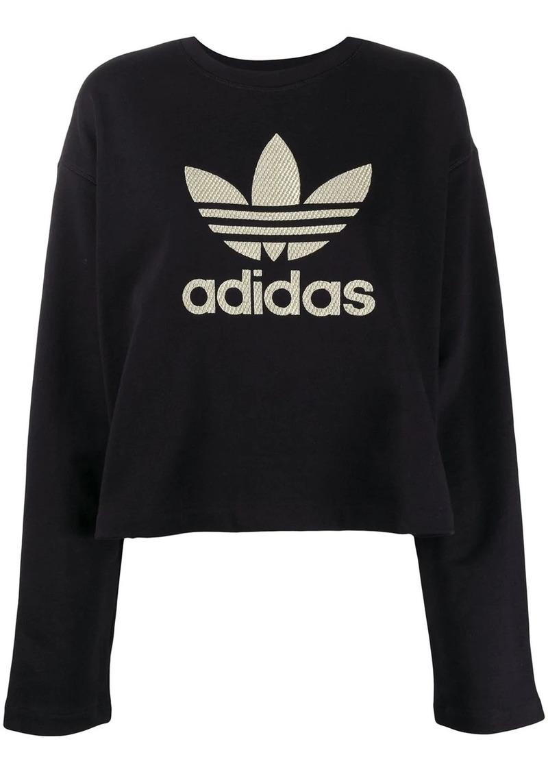 Adidas logo long-sleeve sweatshirt