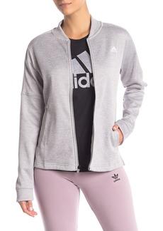 Adidas Logo Mesh Bomber Jacket