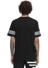 Adidas Logo Outline Cotton Jersey T-shirt