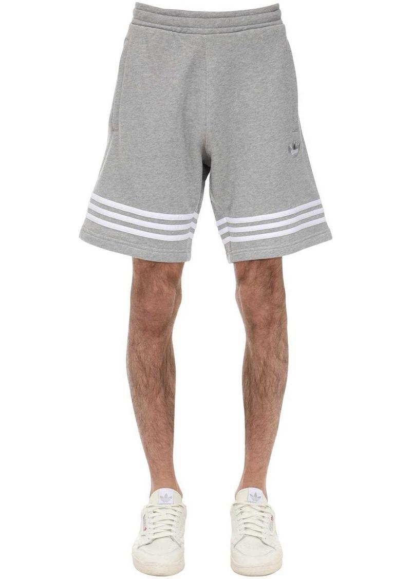 Adidas Logo Outline Cotton Shorts