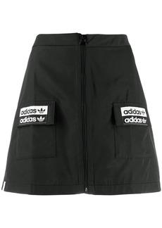 Adidas logo patch mini skirt