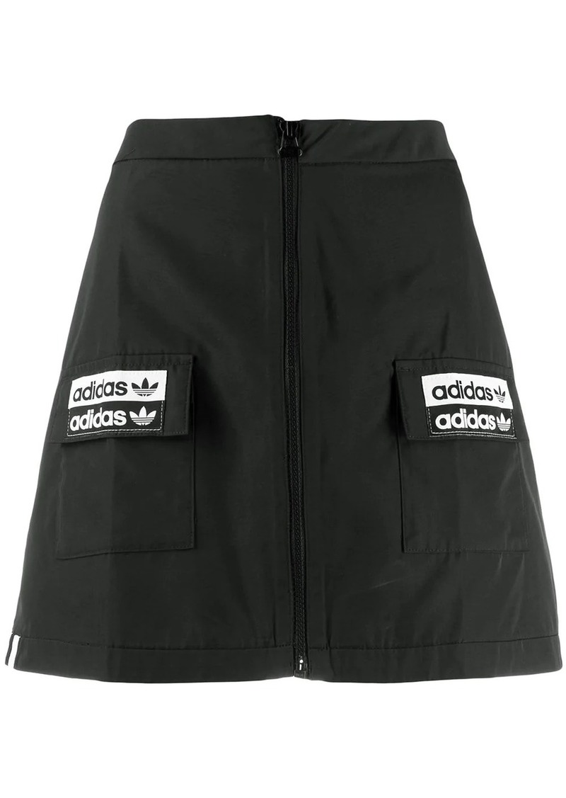 Adidas logo patch mini skirt