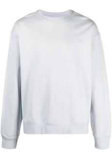 Adidas logo-patch organic cotton jumper
