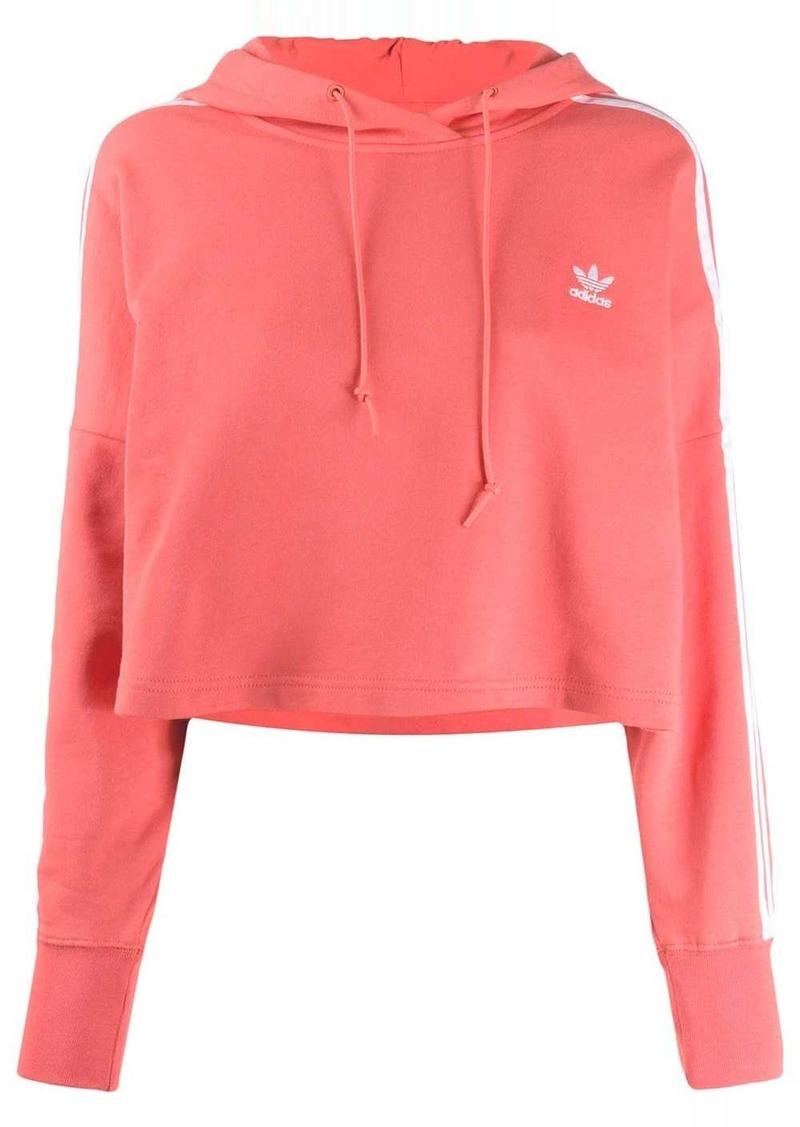 Adidas logo print cotton hoodie