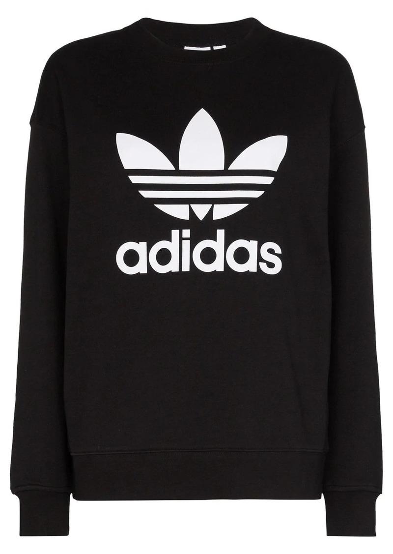 Adidas logo-print cotton sweatshirt