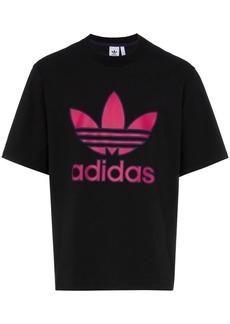 Adidas logo print cotton t-shirt