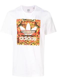 Adidas logo print crew neck T-shirt