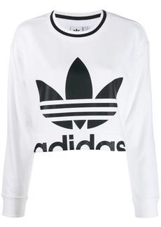 Adidas logo print cropped sweater