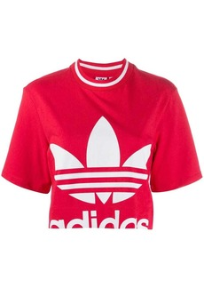 Adidas logo print cropped T-shirt
