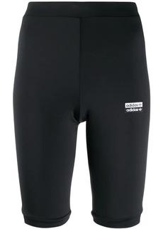 Adidas logo print cycling shorts