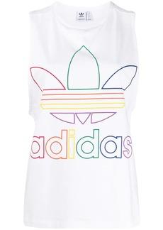 Adidas logo print sleeveless T-shirt