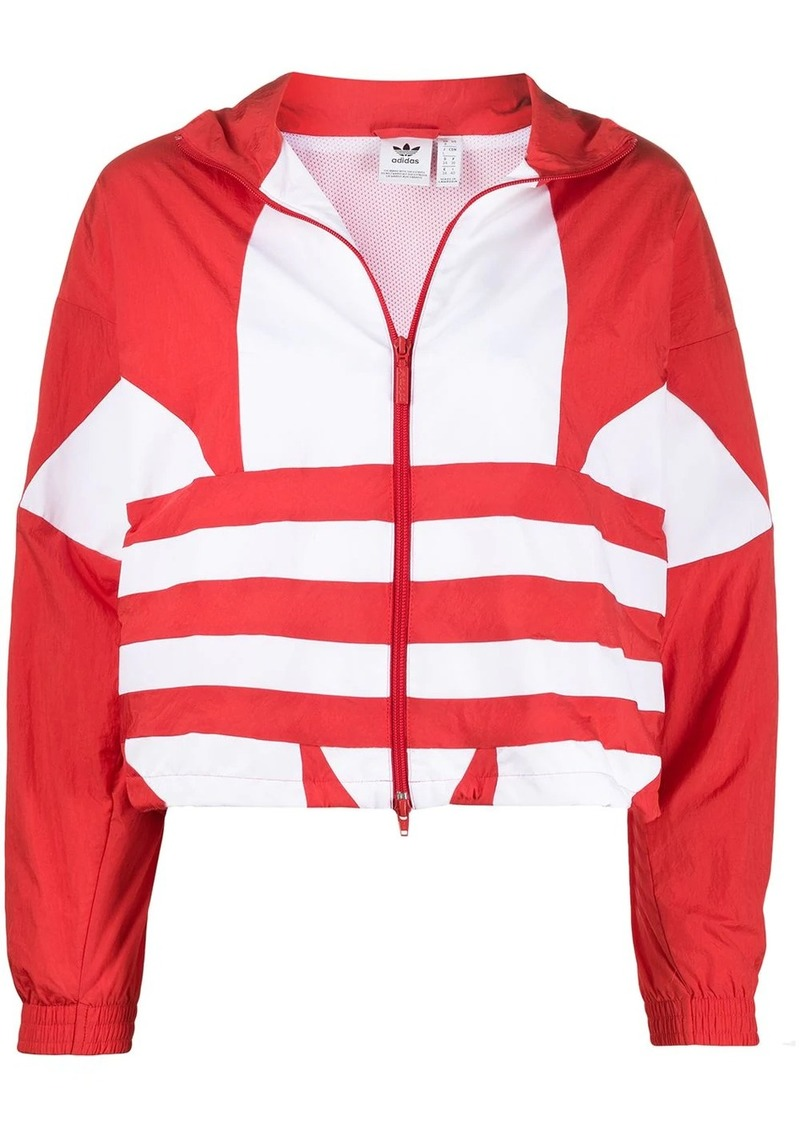 Adidas logo print sport jacket