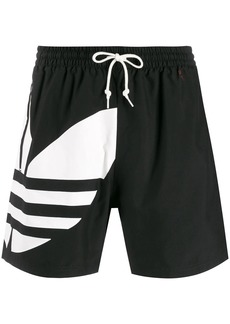 Adidas logo print swim shorts