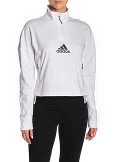 Adidas Logo Quarter Zip Pullover