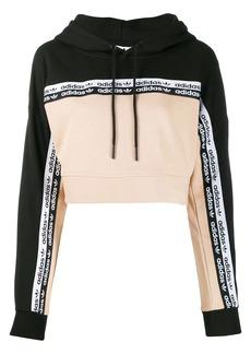 Adidas logo tape hoodie